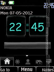 New Style Clock 05 theme screenshot