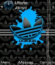 Blue Adidas theme screenshot