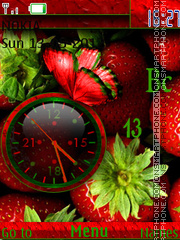 Strawberry Clock tema screenshot