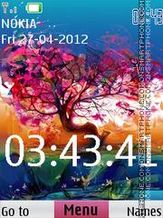 Скриншот темы Tree Clock 01