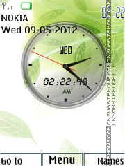 Cool Green Clock theme screenshot