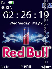 Red Bull Clock theme screenshot