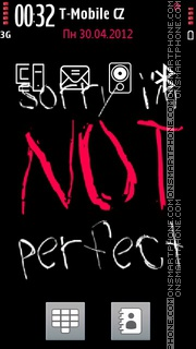 Not Perfect es el tema de pantalla