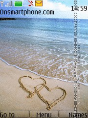Hearts on Sand theme screenshot