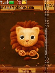 Baby Lion tema screenshot