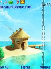 Lovely Island theme screenshot