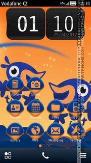 Скриншот темы Happy Birds