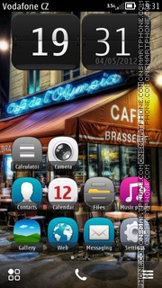 Paris Streets theme screenshot