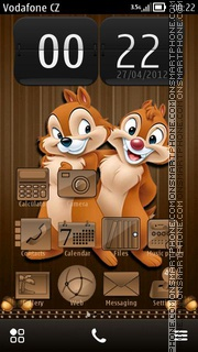 Скриншот темы Chip and Dale 04
