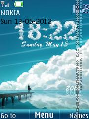 White Clouds Clock theme screenshot