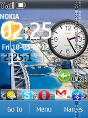 Smartphone Live Dual Clock theme screenshot