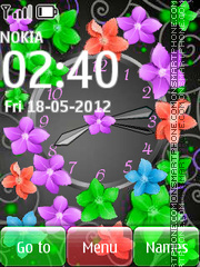 Colorful Flowers 01 theme screenshot