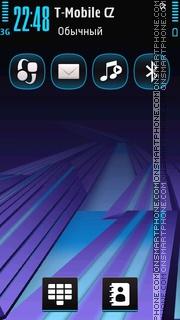 Blue Purple tema screenshot