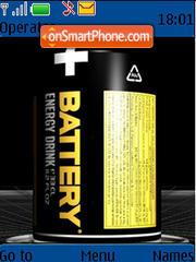 Скриншот темы Battery Energy Drink