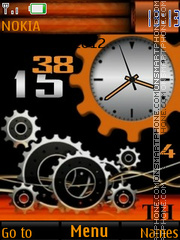 Animated Orange Clock es el tema de pantalla