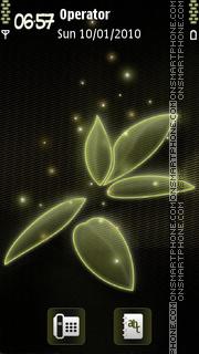 Abstract Green theme screenshot