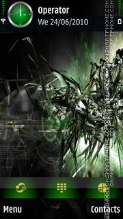 Green Abstract tema screenshot