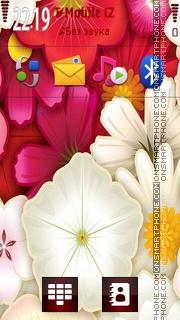 Скриншот темы Abstract Flowers 05