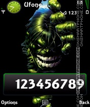 Скриншот темы Hulk