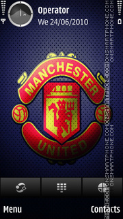 Manchester United Blue Cell theme screenshot