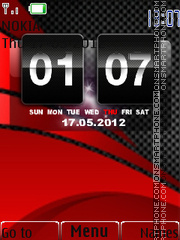 Red Carbon 02 tema screenshot