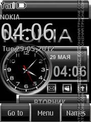 Black Clock theme screenshot