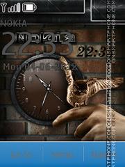 Brown Clock theme screenshot