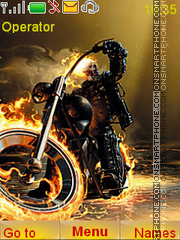 Ghost Rider theme screenshot
