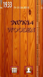 Nokia Wooden es el tema de pantalla