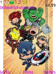 Avengers Chibi theme screenshot