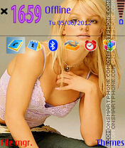 Britney Spears 01 theme screenshot