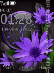 Violet Flowers es el tema de pantalla