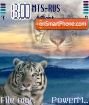 White Tiger theme screenshot