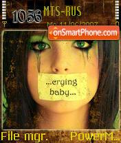 Cryin Baby tema screenshot