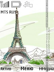 Tour Eiffel tema screenshot