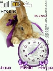 Hare Clock theme screenshot