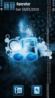 Blue Music Notes tema screenshot