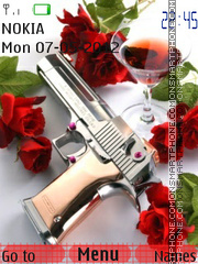 Capture d'écran Pistol And Roses thème