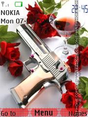 Pistol And Roses theme screenshot