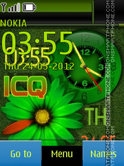 Icq Clock En es el tema de pantalla