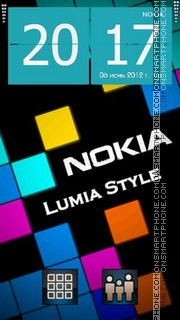 Lumia es el tema de pantalla