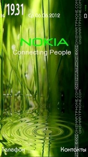 Nokia Green v 2 theme screenshot
