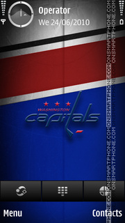 Washington Capitals tema screenshot