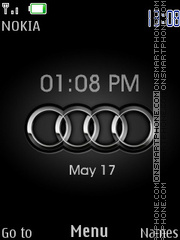 Audi Logo Clock theme screenshot