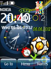 Euro 2012 clock es el tema de pantalla