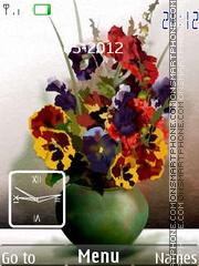 Flower Clock 09 theme screenshot