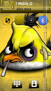 Angry Bird Yellow theme screenshot
