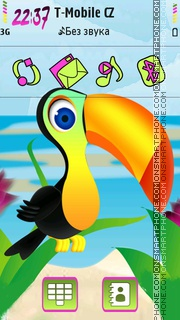 Cute Tucan tema screenshot