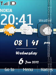 Скриншот темы Android Weather Theme