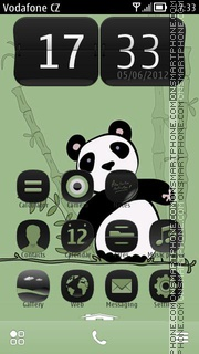 Baby Panda theme screenshot